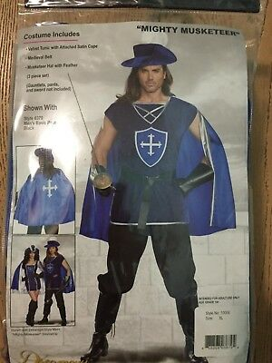 Mighty Musketeer Adult Mens Costume - Dreamgirl 10000