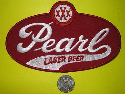 Beer Patch Pearl Beer Patch Large Back Size Look A Real Original Texas Brew