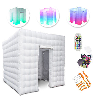 Updated 2 Door 2.5M Inflatable LED Light Photo Booth Tent Party Birthday Wedding