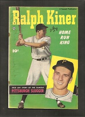 1950 Ralph Kiner Pittsburgh Pirates Fawcett Baseball Comic Book Tough Item