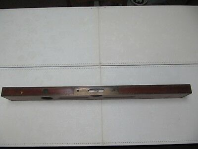 "Vintage Goodell-Pratt Co. 26"" Level-Wood With Brass Ends & Edges-Works Great!"