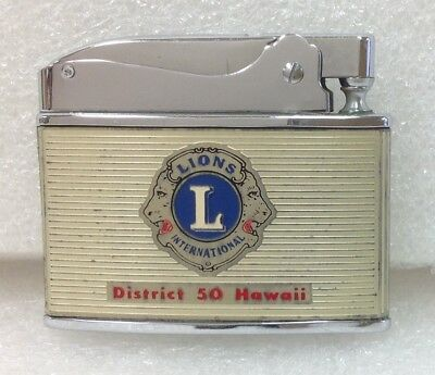 Vintage Hadson Lighter With Lions Club International Emblem District 50 Hawaii