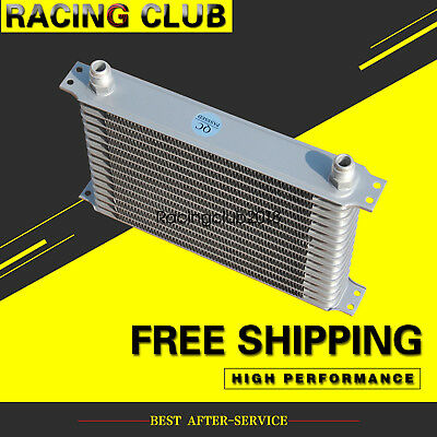 Aluminum Oil Cooler 10 AN For Universal  Racing Engine Transmission 15Row Silver