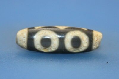 34*11 mm Antique Dzi Agate old 3 eyes Bead from Tibet **Free shipping**
