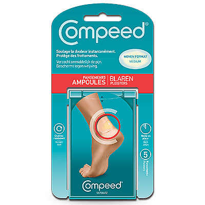 COMPEED Pansement Ampoules Moyen Format 5 pansements Compeed