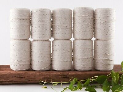 2.5mm macrame cord natural 1 ply cotton single strand string beige rope bulk