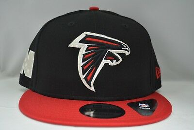 purchase cheap 2055e 13841 Atlanta Falcons 9Fifty Snapback Authentic New Era Hat Cap NFL in Black   Red