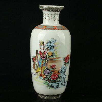 China Pastel Porcelain Hand Painted Vase Mark As The Qianlong R1085;b