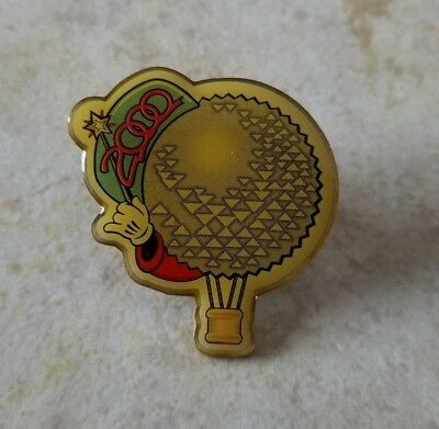 Pin Trading Disney Pins WDW EPCOT 2000 Spaceship Earth Air Balloon Mickey Wand