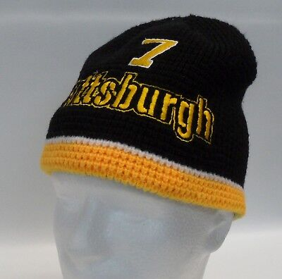 Pittsburgh Steelers Penguins Reversible Embroidered Knit Cuffless Beanie Cap