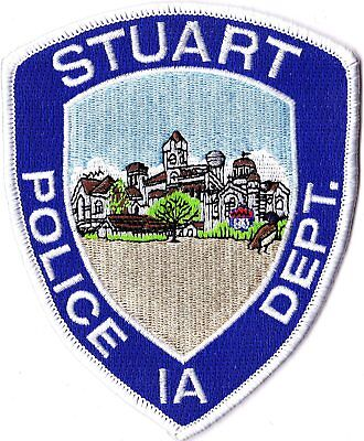 Stuart Police Department Iowa IA patch NEW