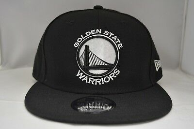best sneakers c49a3 8bc33 Golden State Warriors 9Fifty Snapback Authentic New Era Hat Cap NBA in Black
