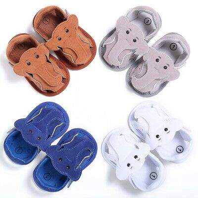 Summer Baby Boys Girls Elephant Shape Hollow Sandal Crib Shoes Prewalker 0-18M