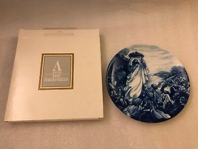 "AVON plate 1993 JESUS FEEDS THE MULTITUDE  8 1/4"" Porcelain Collectibles w/ Box"