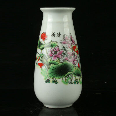 China Porcelain Hand-Painted Vase  Mark As The Qianlong  R1095.a