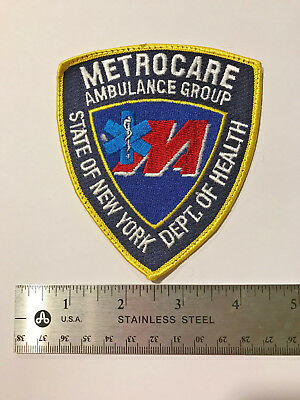 Metrocare Ambulance State of NY EMS Patch Company no longer Exists