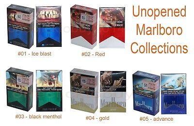 8 Packs Unopend Marlboro Cigarettes Collections for Collectible