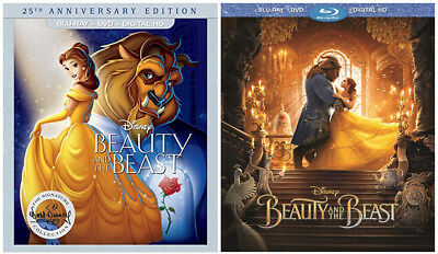 Disney's Beauty and the Beast Blu-ray Bundle: 25th Anniversary + Musical Remake