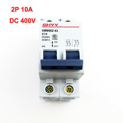 2P 2 Pole 10A 400V 6KA Miniature Circuit Breaker DC Air Switch PV Solar System