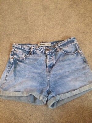 Ladies New Look size 12 Shorts High Waisted Soft Denim