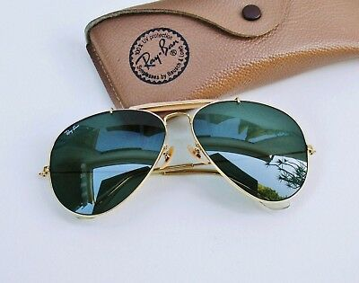 VINTAGE BAUSCH & Lomb Ray Ban USA Aviator Outdoorsman 62 14 MM w Case