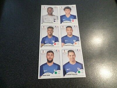 6 Extra Stickers France Panini World Cup Russia 2018