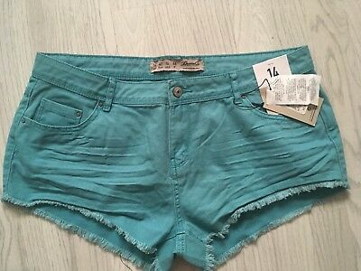 Two Pairs Ladies Denim Shorts Size 14