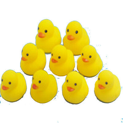 20/50PCS Rubber Ducks Baby Kids Children Water Bathing Fun Toys Squeaky Eager
