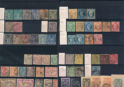 France classic lot 1853-1900 with better issues (5 Fr small tear); cv 600 €