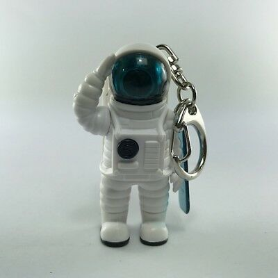Clip Ring Key chain  with Bright Blue Light Illuminates Astronaut Character