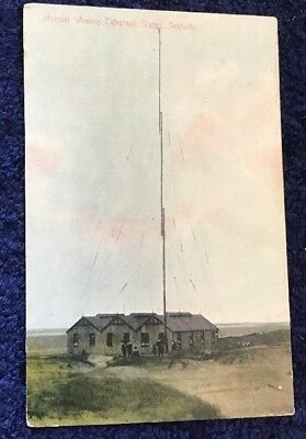 Coloured Postcard of the Marconi Wireless Telegraph Station Seaforth, Liverpool.