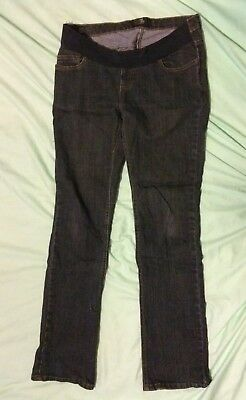 Mothercare M2B under bump Maternity Jeans Size 10 R *adjustable waistband*