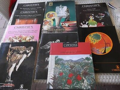 Bulk lot of Christie's & other catalogues - Clarice Cliff, Lalique, Moorcroft,