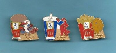 (Very Rare) 3 x Sydney 2000 Olympic Games McDonald Badges (6,3,1 Month To Go)