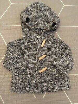 COUNTRY ROAD Unisex Grey Knit Jacket Size 000 0-3 Months