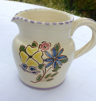 Honiton???  Art Pottery Small Jug ~ 9cm tall unmarked
