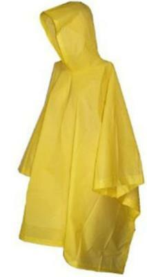 Vinyl Poncho Yellow Waterproof Raincover Raincoat Ground Sheet One Size Fits All