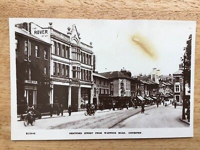 Real Photograph Postcard  - Hertford Street From Warwick Road, Coventry.