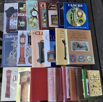 Job Lot Of 23 Old Books On Antiquarian Horology