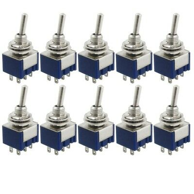 10 x AC 125V 6A 2 Positions 6 Broches DPDT Interrupteur bipolaire bidirection AX