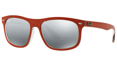 a15d1625a37 Authentic RAY-BAN 4226 - 619088 Sunglasses Orange Grey Gradient Mirror NEW   56mm