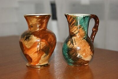 Oldcourt Ware - Handpainted Lustre Jug and Vase - After 1970