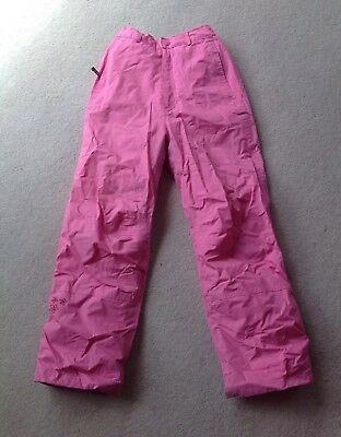 Girls Alpine pink ski trousers/salopettes. Size 11/12