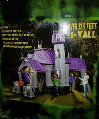gemmy 125 foot halloween airblown inflatable haunted house