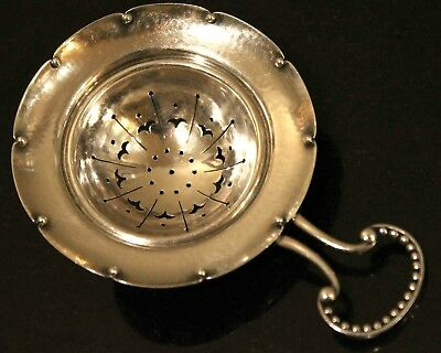 GEORG JENSEN - EXQUISITE Sterling Silver Tea Strainer (#86) SIGNED, Very Fine!