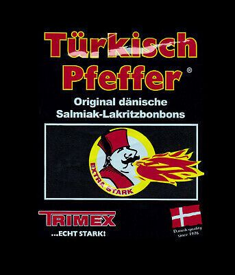 Original Trimex Türkisch Pfeffer Salmiak-Lakritzbonbons ~ EXTRA STARK ~Licorice