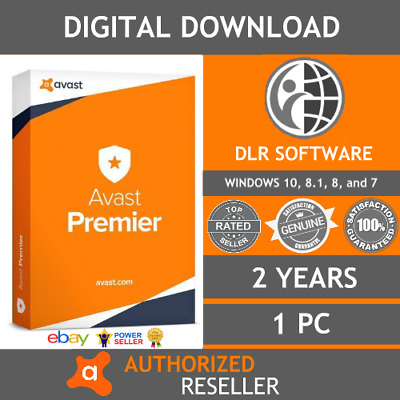 Avast Premier Antivirus & Internet Security 2018 - 2 YEARS - 1 PC - EMAILED