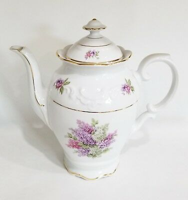 "Rare ~ Stunning Vintage Schumann Arzberg Germany 9 1/2 "" Coffee Pot ~ Lilac Time"