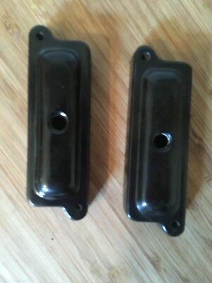 Two original 1930s Bakelite Connecting Blocks for GPO Model 162 Telephone.