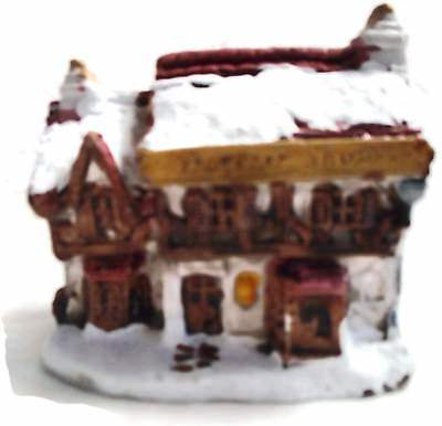 A Dickens Christmas BUTCHER SHOPPE 1988 RSVP Vintage Miniature Cottage With Box